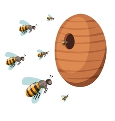 Apiary honey bee house apiary vector image
