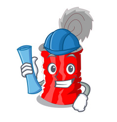 architect tin can isolated on a mascot vector image