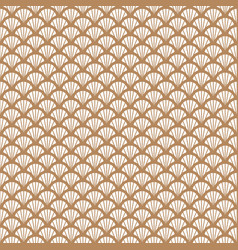 art deco gold and white fish scale geometric style vector image