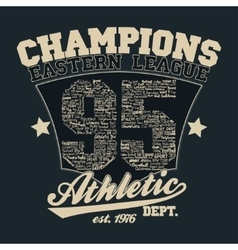 Athletics typography t-shirt graphics vector image