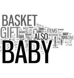 bagift basket text word cloud concept vector image