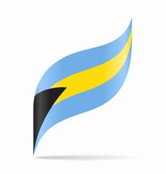 bahamian flag wavy abstract background vector image