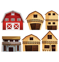 Barns set vector image