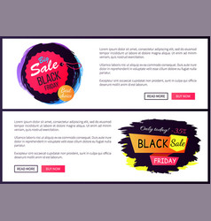 big sale black friday web vector image