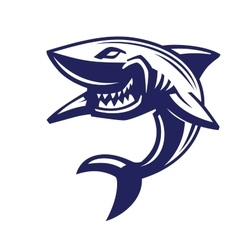 Blue shark icon vector
