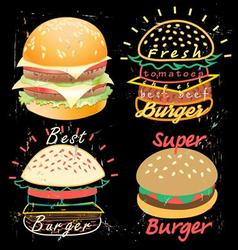 Bright cover for fast food menu vector image vector image