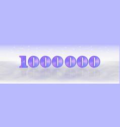 Bright light banner 3d purple gradient numbers vector