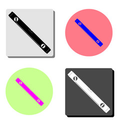 bubble level tool flat icon vector image