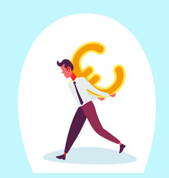 businessman carry back euro icon male money vector image