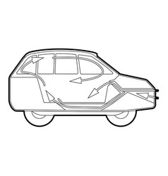 Car air ventilation icon outline style vector