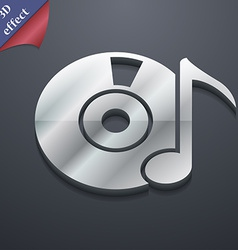 CD or DVD icon symbol 3D style Trendy modern vector image