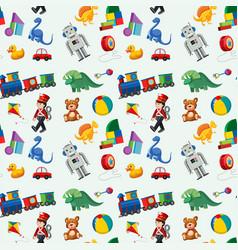 children toys seamless pattern vector image
