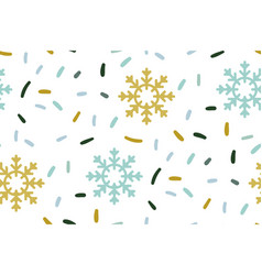 christmas new year children pattern with vector image