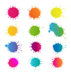 Colorful stain set isolated vector