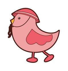 Cute little bird walking vector