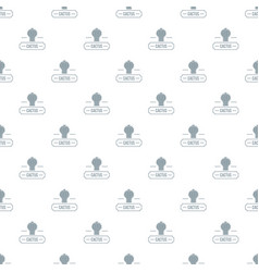 decoration cactus pattern seamless vector image