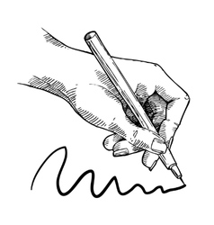 Drawing hand sketch vector