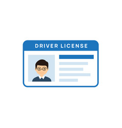 Driver licence icon driver id card license vector
