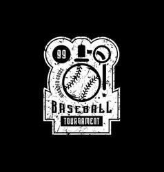 emblem of campus baseball tournament vector image