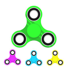 fidget spinner toy set icon vector image