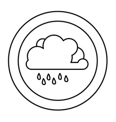 figure cloud rainning icon vector image