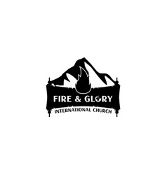 fire and glory logo design vector image