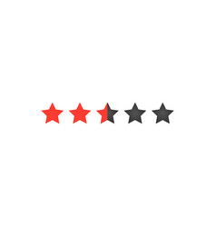 five star rating for web or app buttons for sites vector image