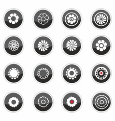 Flowers icons vector