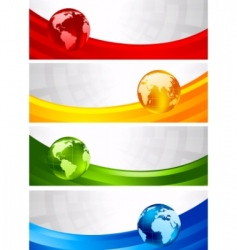 four banners vector image