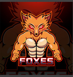 foxes esport mascot logo design vector image