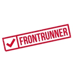 Frontrunner rubber stamp vector