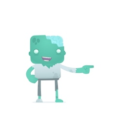 funny cartoon zombie vector image