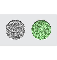 glitter eyeshadow tinsel shimmer lipstick or vector image