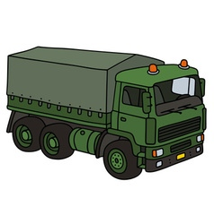Green military truck vector