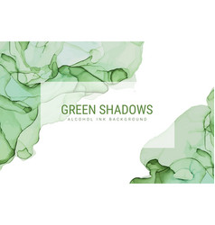 Green shades ink background wet ink hand drawn vector