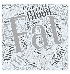 High Fat Foods and the Affect on Blood Sugars Word vector