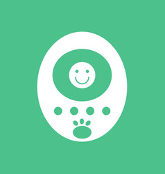 Icon on background tamagotchi pets pocket game vector