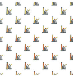 industrial smoke from chimneys pattern vector image