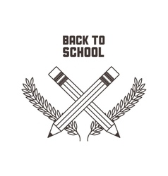 k icon Back to school design graphic vector image