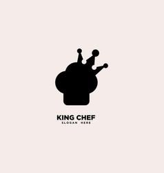 King chef logo template vector