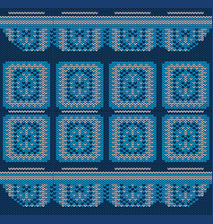knitted decorative background vector image