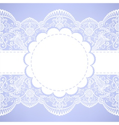 lace border vector image