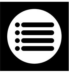 List icon sign vector