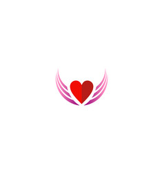 love fly wing valentine logo vector image