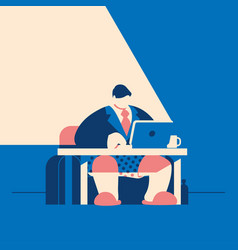 man in tie jacket and pants is working at his vector image
