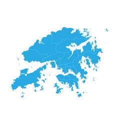 Map of hong kong high detailed map - hong kong vector