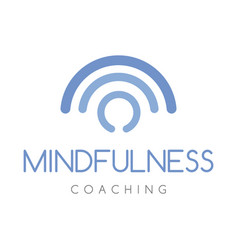 Mindfulness coaching logo company vector