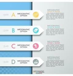 Modern business circle paper style options banner vector image