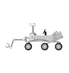 Modern mars rover isolated icon vector