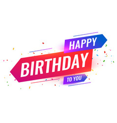 Modern style happy birthday to you background vector